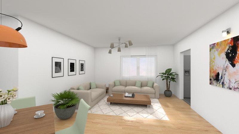 Wohn- und Essbereich mit Zugang zur Küche (offene Küche möglich)